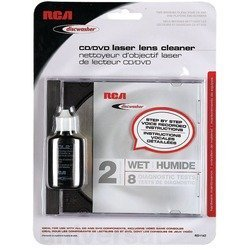 RCARD1142 - DISCWASHER RD1142 CD DVD Laser Lens Cleaners (2-Brush; Wet) by RCA