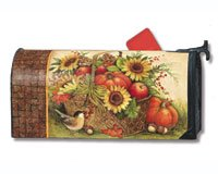 Mailwraps Fall Basket Mailbox Cover 05002
