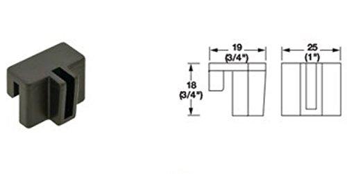 (Pro-Pack 10pcs, Hanging File Rail Clip, plastic, black)