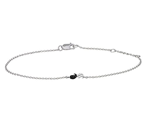 Or Blanc 18 ct Bracelet Diamant , 0.02 Ct Diamant, GH-SI, 2.07 grammes.