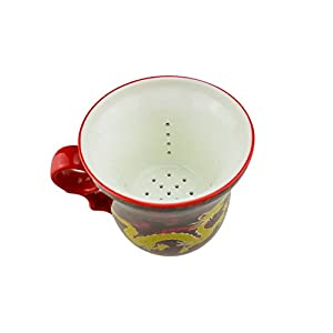 ufengkeRed Dragon Bone China Ceramic Porcealin Chinese Tea Cup With Lid And Saucer