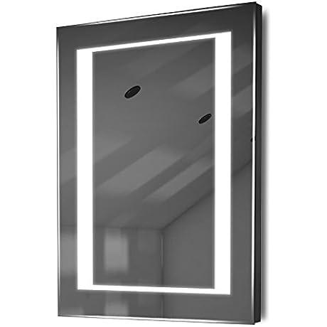 Auto Colour Change RGB LED Bathroom Mirror With Demister Sensor K47irgb