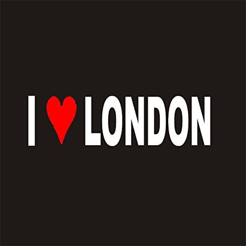I LOVE LONDON Sticker DC413 Windshield Decal Window Car IPad Mac Motorcycle Luggage Skateboard Bag (Windshield Bag Pvc)