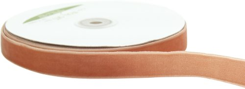 May Arts 3/4-Inch Wide Ribbon, Antique Gold - Gold Cloth Velvet