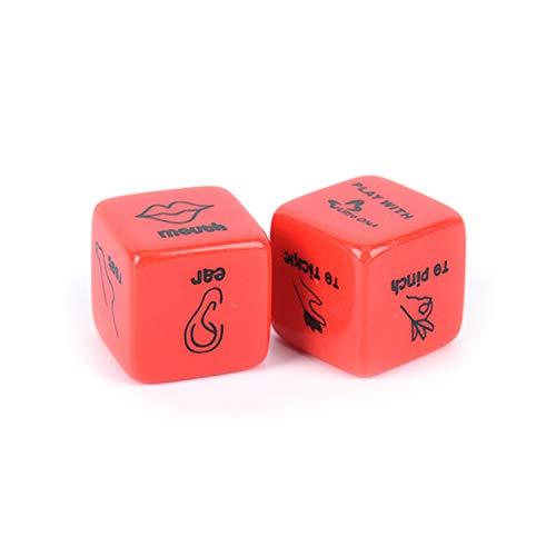 Fun and Romantic Role Playing Dice for Couples: Date Night Dice Set, Flirty Games and Cool Dares, Flirt Dare Gifts for Men Women, Including 36 Position Instructional Booklet