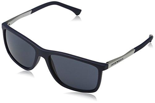 Emporio Armani Unisex Sonnenbrille, Blau (Blue Rubber 547487), Large (Herstellergröße: 58) 1