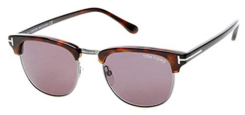 Tom Sunglasses Silver Ford - Tom Ford Henry FT0248 Sunglasses-52A Light Ruthenium/Havana (Gray Lens)-51mm
