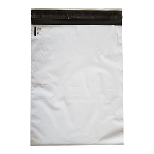 PACKZON Poly Mailers Shipping Envelopes Bags Self Sealing White 2 mil (10