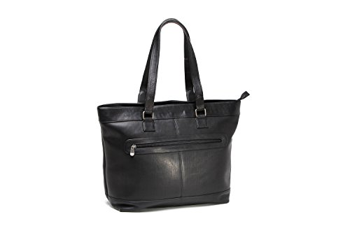 Le Donne Leather Women's 16'' Laptop Business Tote, Black by Le Donne Leather