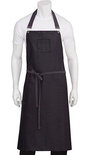 - Chef Works Unisex Boulder Chefs Bib Apron, Purple/Black, One Size