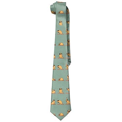 - NANA Men's Fitness Pug Dog Fashion Skinny Tie
