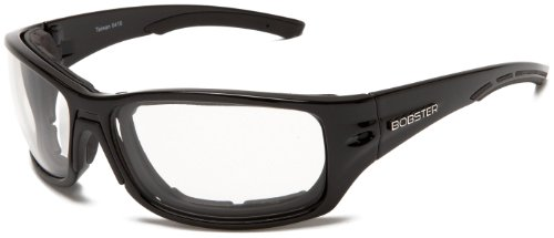 Bobster Rukus Photochromic Sunglasses, Black Frame/Smoke - Photochromic Motorcycle Sunglasses