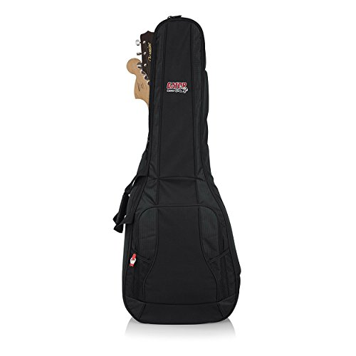 Gator Cases 4G Series Dual Gig Bag; Holds (1) Acoustic and (1) Electric Guitar (GB-4G-ACOUELECT) (Best Rated Electric Guitars)
