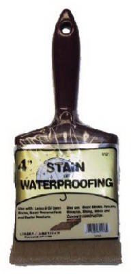 Linzer 3121 0400 Stain Waterproofing Brush, - Stain Fence Paint