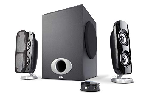 Cyber Acoustics 76W Computer Speakers with Subwoofer, a Powerful 2.1 Multimedia System for Gaming, Music, and Movies