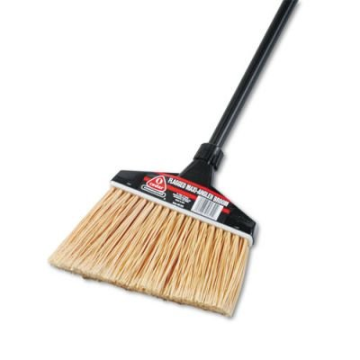 O-Cedar 91351CT Maxi-Angler Broom- Polystyrene Bristles- 51quot; Handle- Black- 4/Carton ()