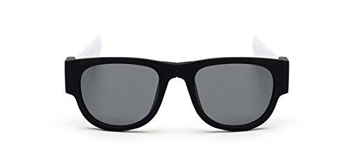 soleil Unisexe Blanc lunettes de sport Lunettes polarisant bracelet en Dent de soleil pliante de de lion CxwvwZn0Iq