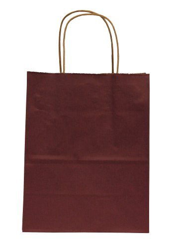Premier Packaging AMZ-295011 15 Count Pinstripe Shopper Gift Bag, 8.25 by 10.5-Inch, Wine