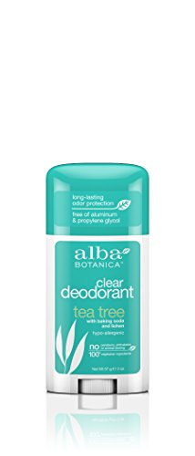 Alba Botanica Deodorant Stick Clear Enzyme, Tea Tree, 2 Ounce