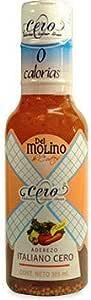 Caja 12 Pz - 355ml Aderezo Del Molino Italiano Cero Calorias