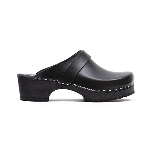 klog Clogs Toffeln Black World 310 com Classic Wooden Classic Black of Traditional Clogs BwA5qX