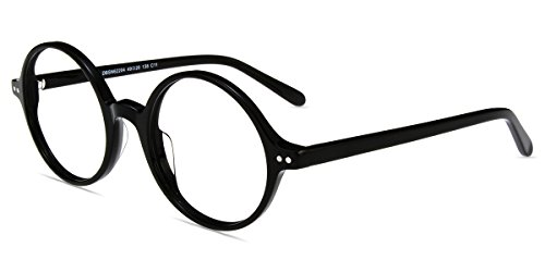 Firmoo-Vintage Inspired Circle Round 2.25 Readers Reading Glasses For Man and Women-Black Frame