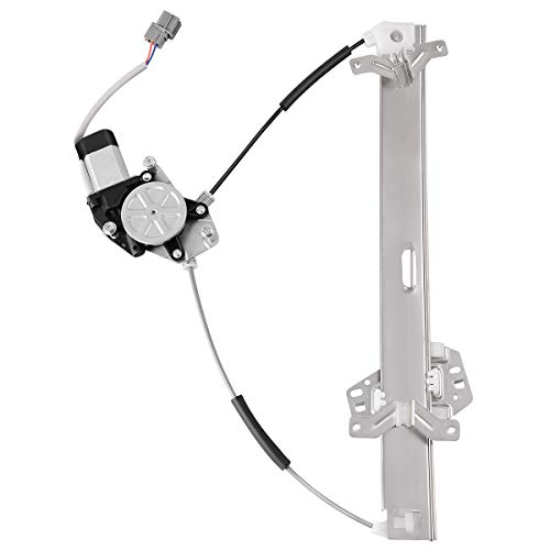 Power Window Regulator With Motor Assembly for 2003-2007 Honda Accord, Front Right RH Passenger Side, 2 Pin Connector.