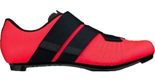 Fizik Tempo R5 Powerstrap Cycling Shoe, Coral/Black - 40, Coral/Black