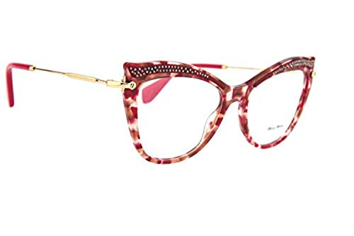 - Eyeglasses Miu MU 6 PV K6G1O1 HAVANA RASPBERRY/BROWN