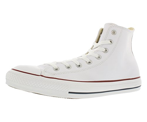 Converse Chuck Taylor All Star Leather High Top Sneaker, White, 8 M US