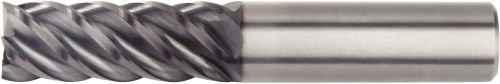 RH Cut WIDIA Hanita 4C1508003ST 4C15 HP Finishing End Mill 0.3125 Shank Dia 0.3125 Cutting Dia AlTiN Coating 5-Flute Carbide