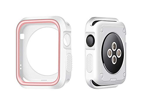 Apple Watch Case Series 4 Silicone Bumper Resistant Waterproof Proof Impact Resistant Protective Apple Watch Case 44mm (40mm, Rose Gold)
