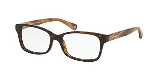 Coach Women's HC6047 Eyeglasses Dark Tortoise/Light Brown Horn 51mm