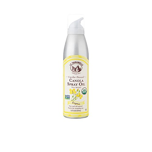 La Tourangelle Organic Canola Oil Spray 5 Fl. Oz, All-Natural, Artisanal, Great for Cooking and Baking or as a Dressing or Marinade