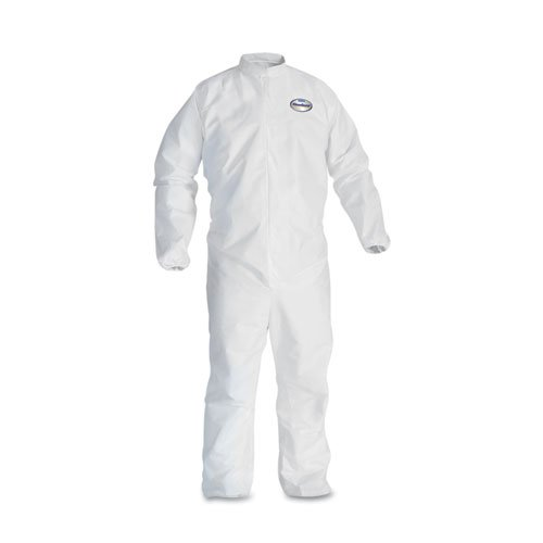 KCC46105 - Kleenguard A30 Elastic-back amp; Cuff Coveralls, White, 2x-large (Clark Kimberly Coveralls A30)