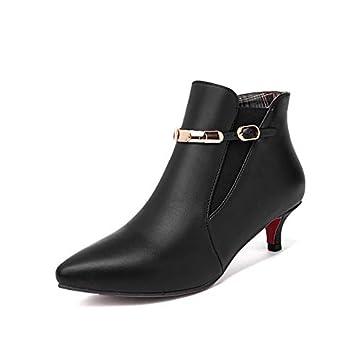 1bea4c5e31c IWxez Women's Fashion Boots Faux Leather Fall & Winter Boots Kitten ...
