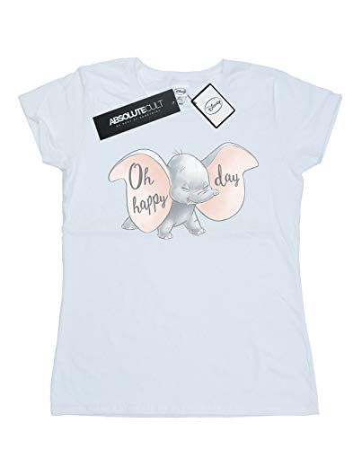 blanca Disney mujer Dumbo Happy Camiseta Day 7PBpCxwXXq