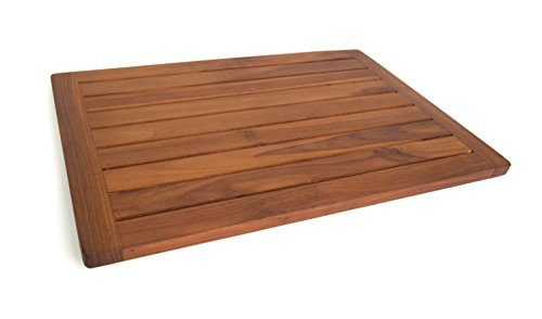 the original spa teak bath u0026 shower mat