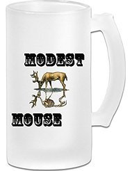 Modest Mouse Frosted Glass Pub Big Beer Mug - 500ML (Cincinnati Reds Tire Cover compare prices)