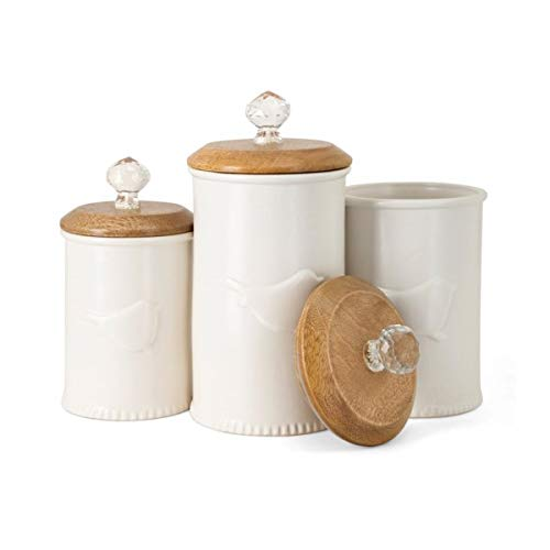 Imax 23272-3 Trisha Yearwood Bluebird Ceramic Canisters, Set of 3