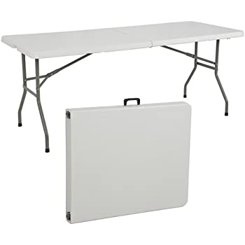 Best ChoiceProducts Folding Table Portable Plastic Indoor Outdoor Picnic  Party Dining Camp Tables, 6u0027