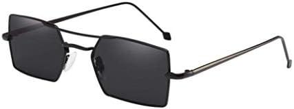 ZHRUI Gafas polarizadas Gafas de Sol para Hombres Mujeres Gafas de Seguridad Protección UV Gafas Retro Claro para niños pequeños Niñas Señoras Vintage Óvalo ...
