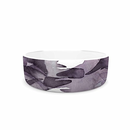 "new KESS InHouse Ebi Emporium ""Fervor 9"" Purple Lavender Watercolor Pet Bowl, 7"" Diameter"