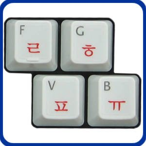 Korean Laminated Transparent Keyboard Stickers for All PC, Mac , Desktops, Laptops and Notebooks