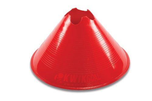 Kwik Goal Jumbo Disc Cones (Red) Pack of 12