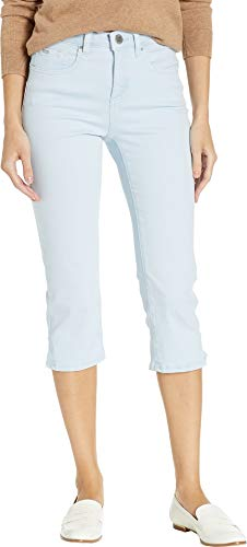 FDJ French Dressing Jeans Women's Solid Cool Twill Olivia Capris in Sky Sky 10 21