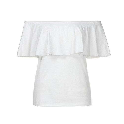 Donna Tops Top Shirt Lunghe Donna Blusa Sweatshirt Felpa Maglietta T Con Maniche Lunga Bluse Spalle Scoperte Camicie Manica Yesmile Pullover Camicie Bianco Camicetta TEw1F