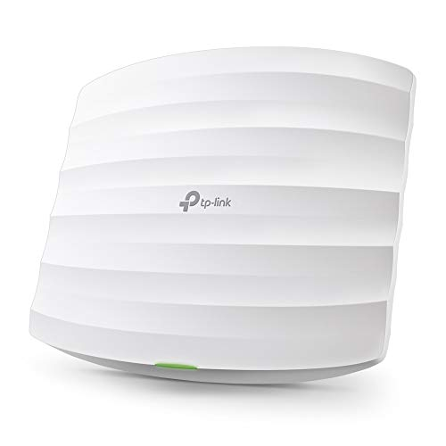 TP-Link EAP225 Point d'Accès Wi-Fi Double Bande AC 1350Mbps PoE Gigabit - Plafonnier (300Mbps en 2.4GHz + 867Mbps en 5GHz, 1 port Gigabit, Support - Router Wifi Point Access