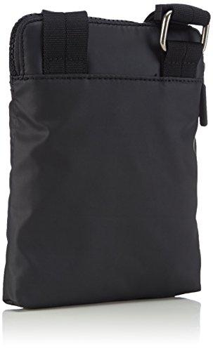 FLAT CROSSOVER Negro Klein hombre sintética 990 hombro Black MINI METRO de piel Calvin Schwarz de Jeans Bolso OWIgngUH