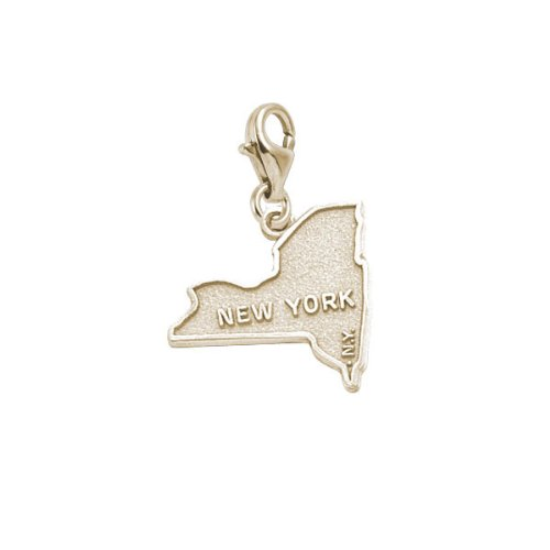 10K Yellow Gold Rembrandt Charms New York Charm with Lobster Clasp